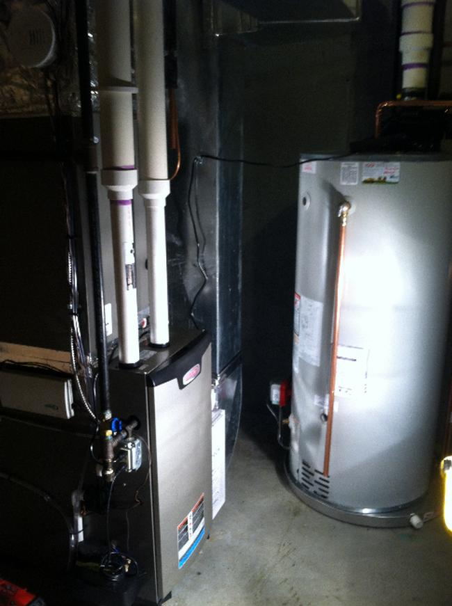 Lennox Gas Furnace Amp Hot Water Tank Pioneer Heating